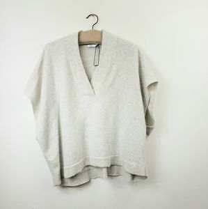 Vince Oversized Wool/Cashmere Vee sweater